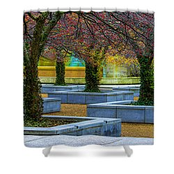 Chicago Art Institute South Garden Shower Curtain