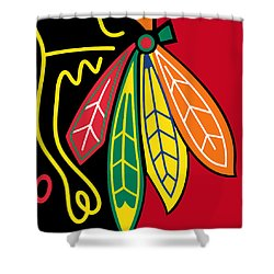 Chicago Blackhawks 2 Shower Curtain by Tony Rubino