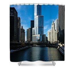 Shower Curtain featuring the photograph Chicago Blues by Georgia Mizuleva