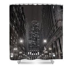 Chicago Board Of Trade B W Shower Curtain by Steve Gadomski