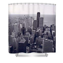 Chicago Bw Shower Curtain by Steve Gadomski