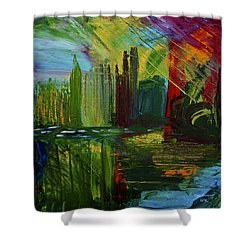 Chicago City Scape Shower Curtain