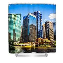 Chicago City Skyline Shower Curtain
