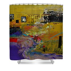 Chicago Collage 2 Shower Curtain by Corporate Art Task Force