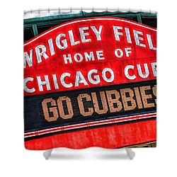 Chicago Cubs Wrigley Field Shower Curtain by Christopher Arndt