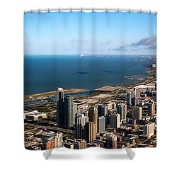 Chicago From Above Shower Curtain