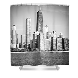Chicago Hancock Building Black And White Picture Shower Curtain