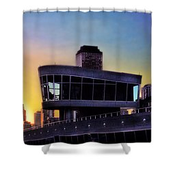 Shower Curtain featuring the photograph Chicago Lock Tower by John Hansen