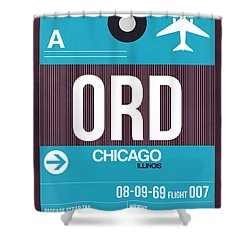Chicago Luggage Poster 1 Shower Curtain