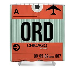 Chicago Luggage Poster 2 Shower Curtain