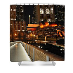 Chicago Millenium Park Shower Curtain