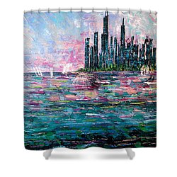 Chicago Morning - Sold Shower Curtain by George Riney