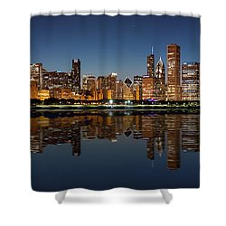 Chicago Reflected Shower Curtain by Semmick Photo
