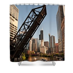 Chicago River Traffic Shower Curtain by Steve Gadomski