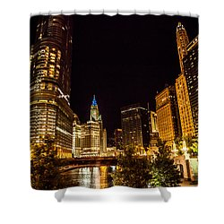 Chicago Riverwalk Shower Curtain