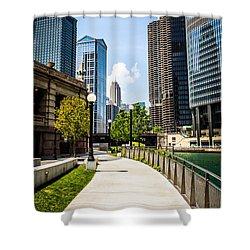 Chicago Riverwalk Picture Shower Curtain by Paul Velgos