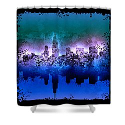 Chicago Skyline Abstract 2 Shower Curtain