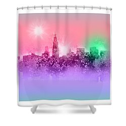 Chicago Skyline Abstract 3 Shower Curtain