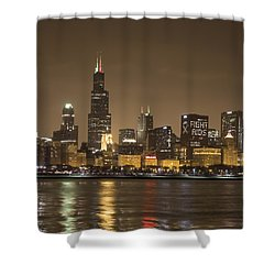 Chicago Skyline - World Aids Day 12/1/12 Shower Curtain