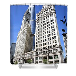 Chicago Skyscrapers Shower Curtain by Frank Romeo