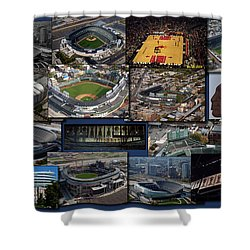 Chicago Sports Collage Shower Curtain