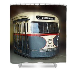 Chicago Street Car 20 Shower Curtain by Thomas Woolworth