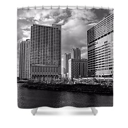 Chicago Sun Times Shower Curtain by Jenny Hudson