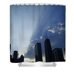 Chicago Sunset Shower Curtain by Verana Stark