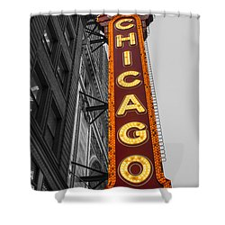 Chicago Theater Selective Color Shower Curtain