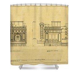 Chicago Theatre Blueprint 2 Shower Curtain