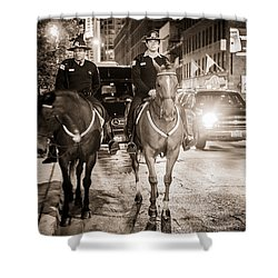 Chicago's Finest Shower Curtain by Melinda Ledsome