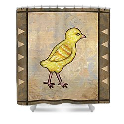Chick One Shower Curtain by Linda Mears