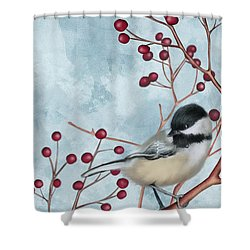 Chickadee I Shower Curtain