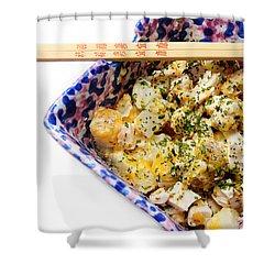Chicken Cheese Potato Casserole Shower Curtain by Andee Design