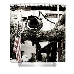Shower Curtain featuring the photograph Chick's Beach Marina by Angela DeFrias