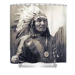 Chief He Dog Of The Sioux Nation  C. 1900 Shower Curtain by Daniel Hagerman