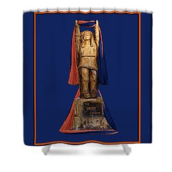 Chief Illiniwek University Of Illinois 05 Shower Curtain