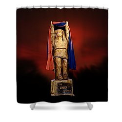 Chief Illiniwek University Of Illinois 06 Shower Curtain
