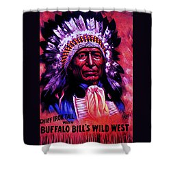 Chief Iron Tail Buffalo Bill's Wild West Shower Curtain by Peter Gumaer Ogden