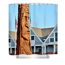 Chief Little Owl Shower Curtain