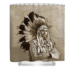 Chief Red Eagle Carmel California Circa 1940 Shower Curtain