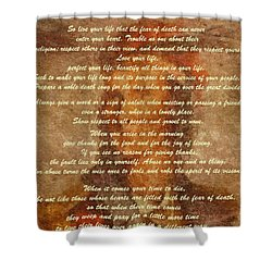 Chief Tecumseh Poem Shower Curtain by Dan Sproul