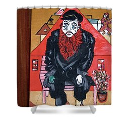 Shower Curtain featuring the painting Chigall By Nora by Nora Shepley