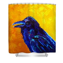 Chihuahuan Raven Shower Curtain