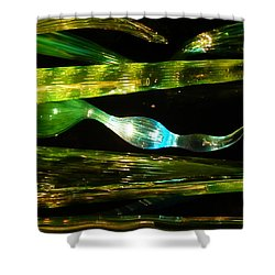 Chihuly Green In Denver Colorado Shower Curtain