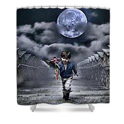 Child Of The Moon Shower Curtain by Joachim G Pinkawa