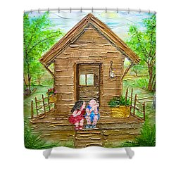 Childhood Retreat Shower Curtain by Jan Wendt