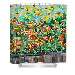 Childlike Flowers Shower Curtain