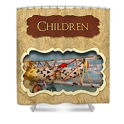 Children Button Shower Curtain by Mike Savad
