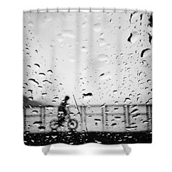 Children In Rain Shower Curtain